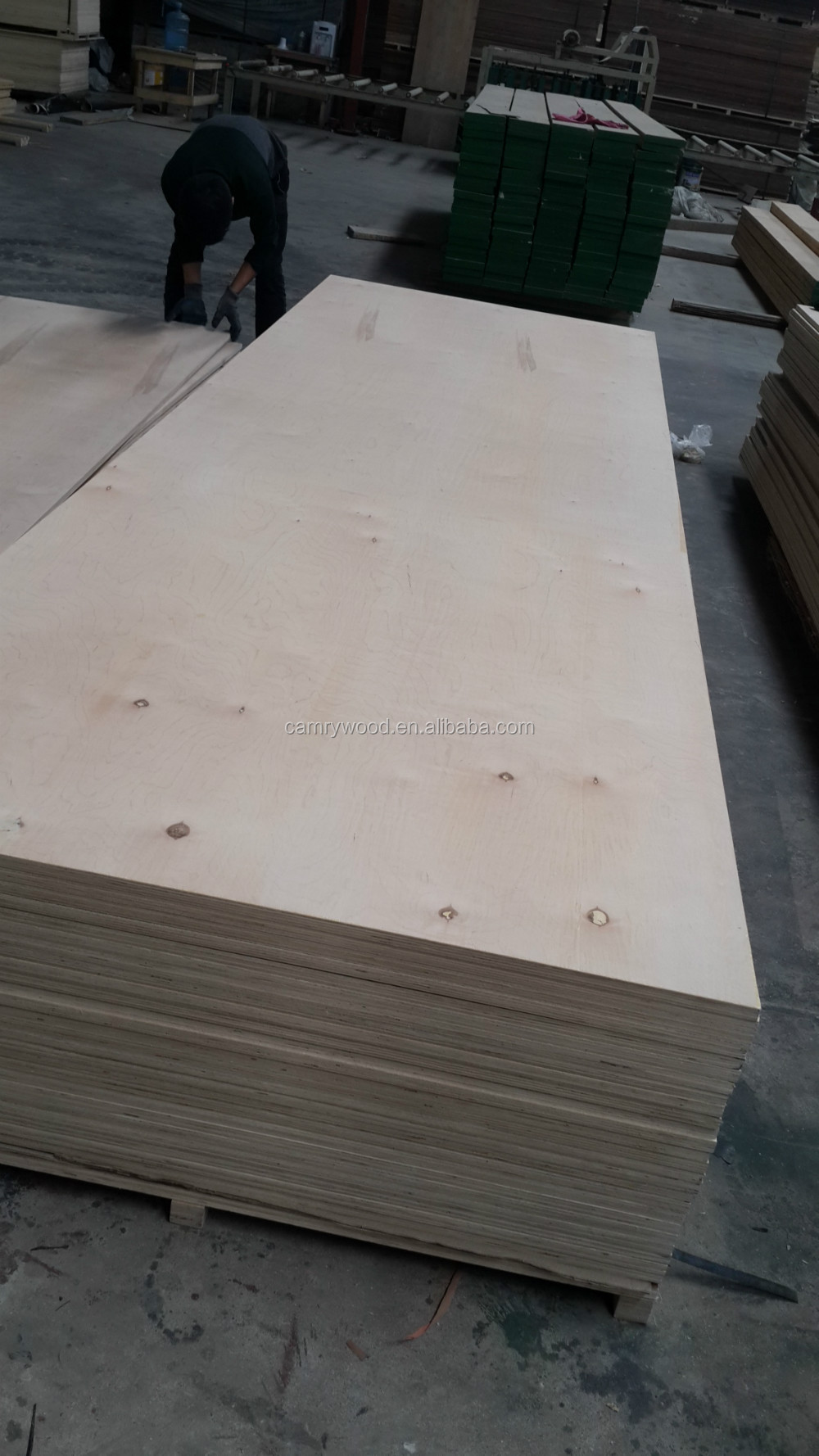 CARB P2 E0 E1 E2 FSC POPLAR CORE 1525x1525mm birch plywood for furniture grade