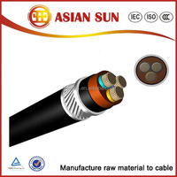 low voltage electrical cable 4 cores PVC insulation aluminium power cable