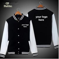 bomber jacket men DIY custom logo baseball jackets coat cardigan lovers uniform casual sportwear college team brand clothing