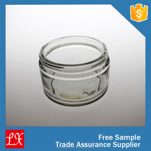 210ml glass canister with clip metal lid glass jar