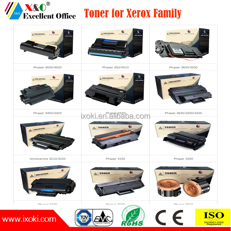 Superior quality compatible xerox toner cartridge for Xerox Phaser 7800 7500 7525 7100 6700 6600 6500 6020 6000 series printer