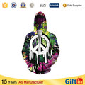 Wholesale Hooded Zipper, Sublimation el wire hoodie