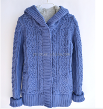 Latest new style sweater hooded sweater knitting decent sweater warm