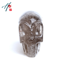 100% Natural crystal material hand carved glass crystal skull