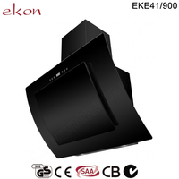 GS CE 90cm black glass chinese kitchen exhaust range hood