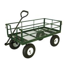 High - strength used wagon metal four wheel hose reel garden cart