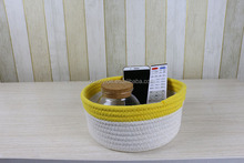 colorful household cute cotton rope storage box sundries use for sale