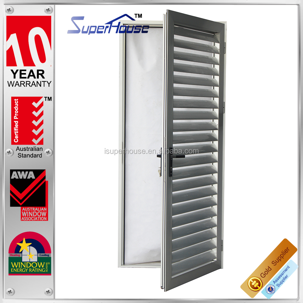 ventilate Residential House with WERS exterior door shutters,used building materials aluminium profile outdoor shutter
