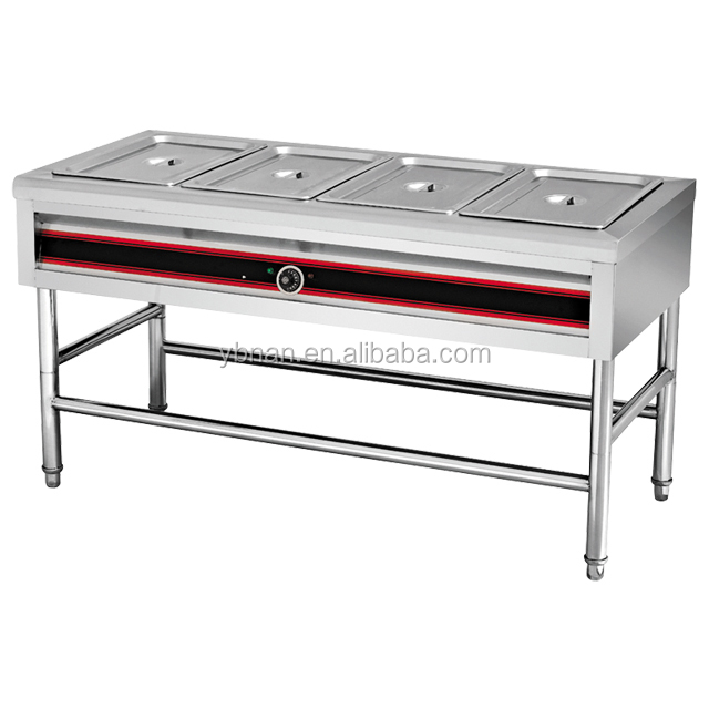 Commercial stainless steel buffet warmer set