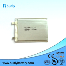 SL204457 420mAh 3.7V High quality curved rechargeable li-ion polymer battery flexible ultra thin battery for wearable device