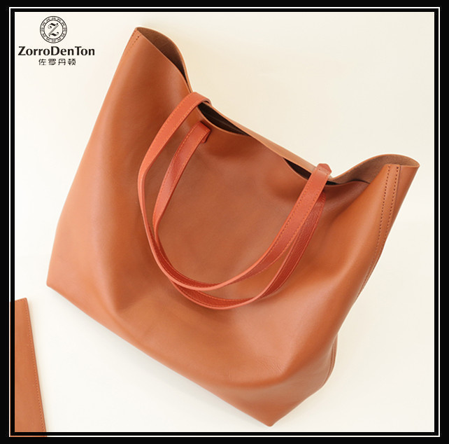Large capacity leather professional women's shoulder bag ladies cow leather tote bag
