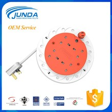 Factory wholesale empty plastic drum steel stands industrial easy take-up retractable electrical extension cable reel