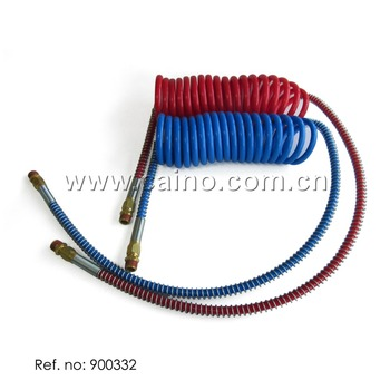 Air Brake coil Red and Blue with Brass fitting