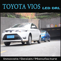 Super light White Toyota Vios LED Daytime Running Lights DRL With Fog Lamp Cover For Toyota Vios