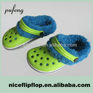 New style quality comfortable winter EVA fur lining clog