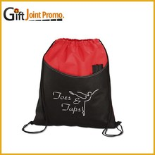 Sport Polyester Drawstring Backpack, Drawstring Bag with Printed LOGO