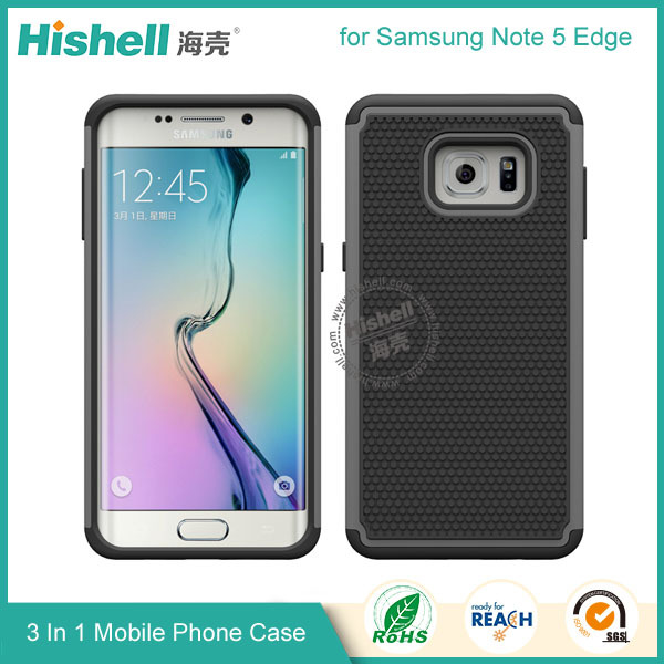 pc+tpu material cellular phone accessories football grain case for Samsung galaxy note 5 edge