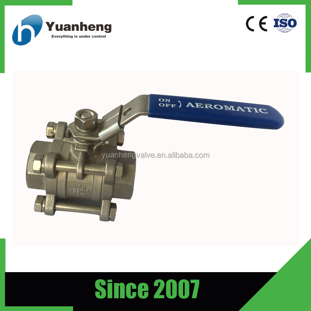 "2 inch 316 stainless steel fluid control 1/2"" ball valve"