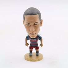 Moving player 4 inch 3d soccer footabll player action figure