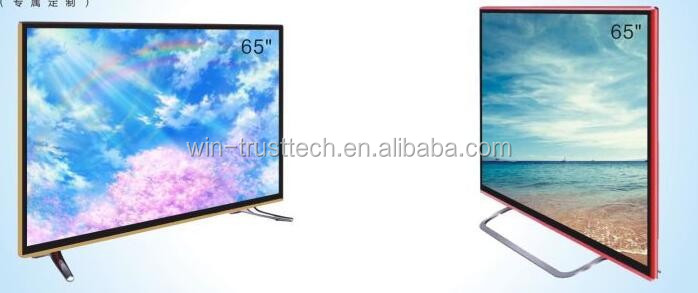 "Ultrathin 65"" metal frame&android version 4k display LCD/LED TV"