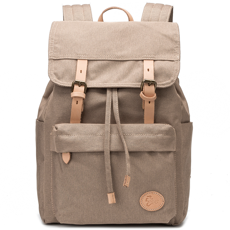 Wholesale Waterproof Canvas School Backpack Bag With Leather Trim ... eea98344e5398