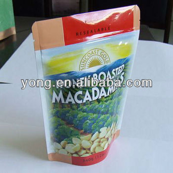 stand-up snacks packaging bag