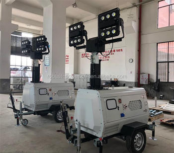 Mining Field Stabilizer Supports Trailer Vehicle Light Tower