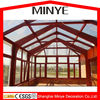 Shanghai hot design Garden Triangle roof aluminum frame storm proof sun glass garden room