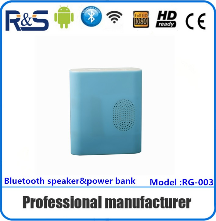 Hot sale bluetooth power bank speaker 2200mah with 24H play time , portable size silica gel +ABS case