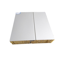 Heat Insulation 100mm rockwool sandwich panel with hidden type