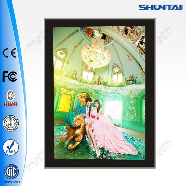 Slim magnetic light box advertising display led memo board magnet poster frame led super slim light box