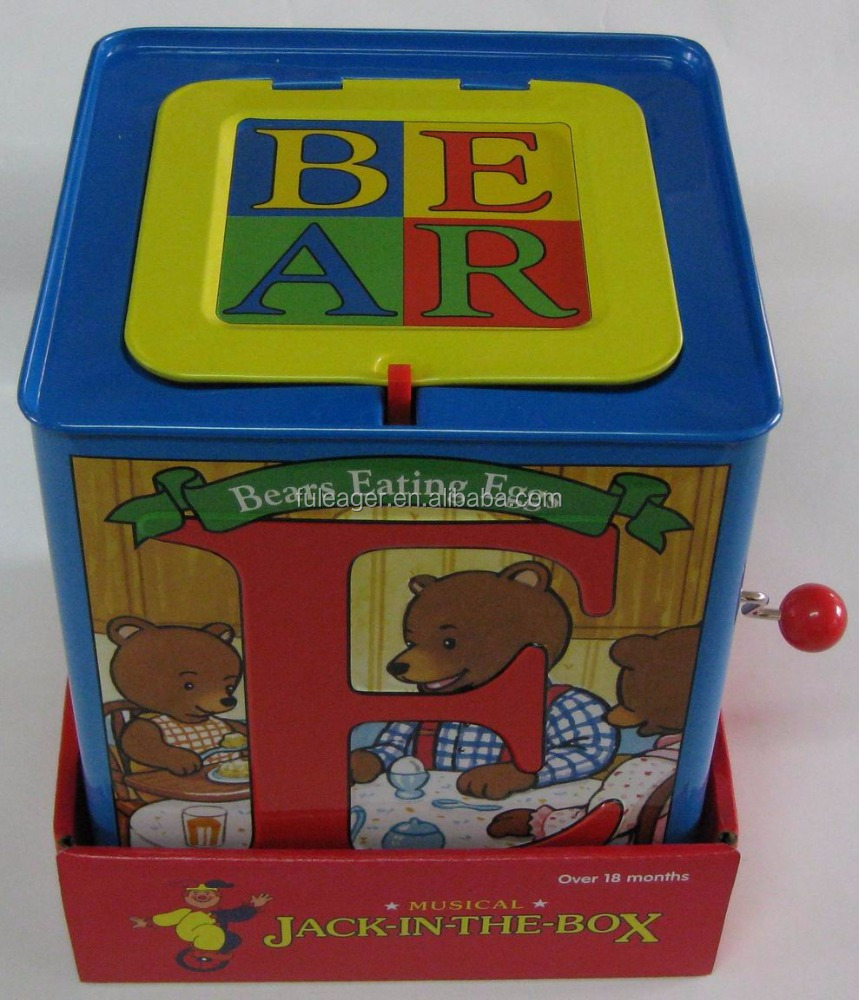 Pop up Jack in a box, Music promotion baby toy, Jack in the box toys