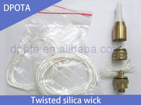 0.6/0.8/1.0/1.2/1.3/1.5/2.0/2.5/3.0/3.5mm twisted ekowool silica wick 5m/plastic bag for e-cig