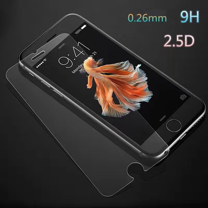 Hot selling high quality 0.3mm 2.5D 9h crystal clear Tempered glass screen protector for iphone 7 7 plus