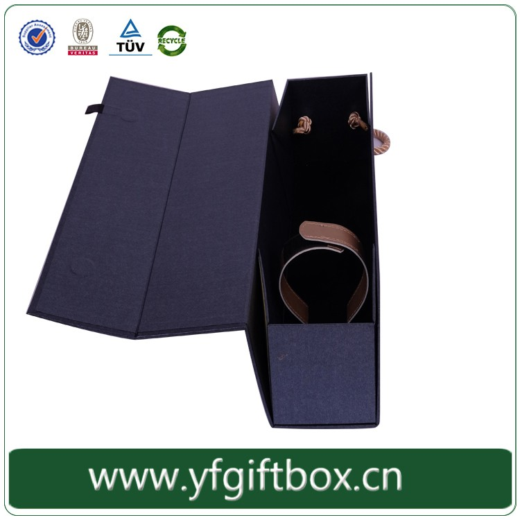 High-end wine box customized foldable wine bottle packaging wholesale
