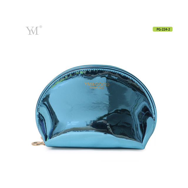 Hot popular shell shape blue makeup waterproof toiletry bag for cosmetic