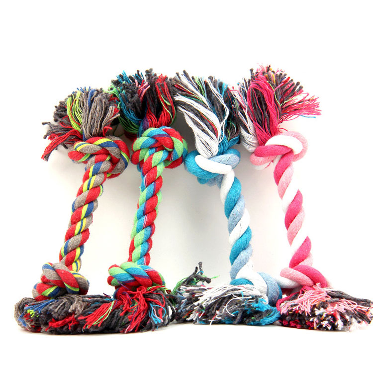 1 pcs <strong>Pets</strong> dogs <strong>pet</strong> supplies <strong>Pet</strong> Dog Puppy Cotton Chew Knot Toy Durable Braided Bone Rope 18CM Funny Tool Z0064