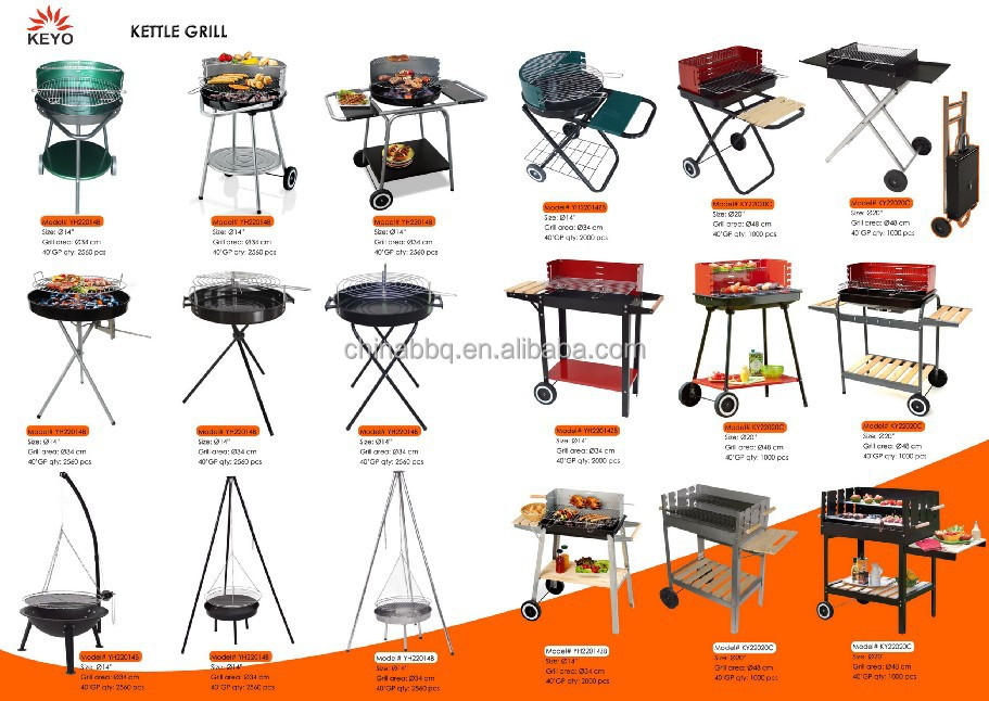 sling chain BBQ grill with adjustable cooking height, pulley tripod grill
