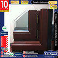 Aluminum-Wood Swing Window With Security Mesh