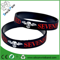 avenged sevenfold silicone wristband gelang A7X Death Bat bracelet