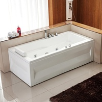 A039 rectangular corner tub whirlpool bathtub with spa jacuzzy function