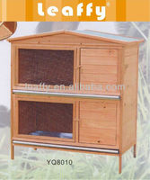 LEAFFY-Wooden with Asphalt Roof Rabbit Hutch RH-8010