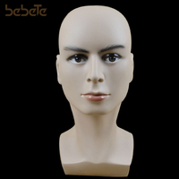 Dummy Realistic Plastic Male Mannequin Head For Wig Sunglass Scarf Jewelry Hat Display