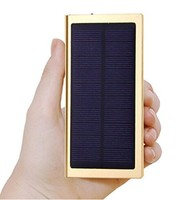 Hiigh Efficient Solar Portable Backup External Battery Solar Panel Power Bank Solar Charger with Dual Output Waterproof,Dustproo