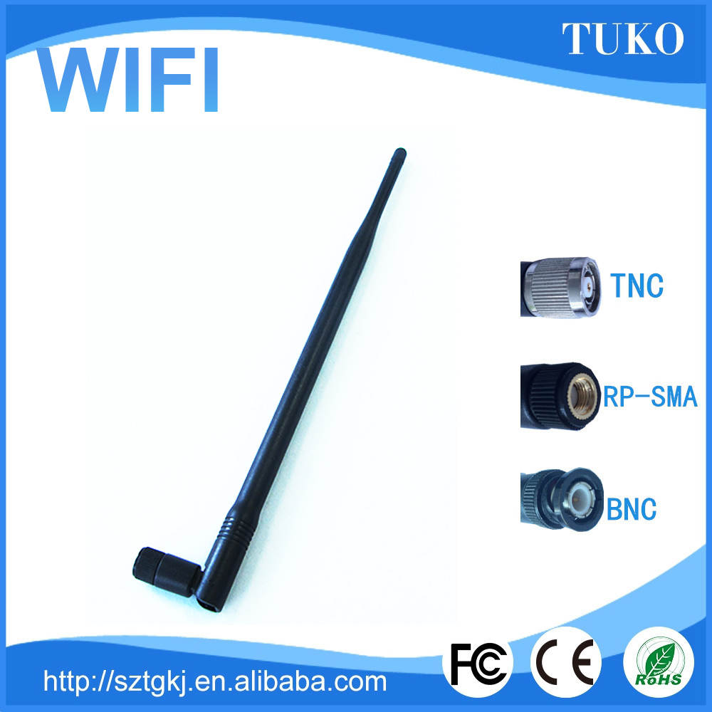 2017 new Good sales factory price wholesale ubiquity wifi antenna 5dbi rubber duck antenna products