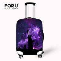 Fancy Printing of Statue of Liberty Picture Protective Fabric Luggage Cover