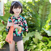 S13735A 2016 kids teenage girls swimwear