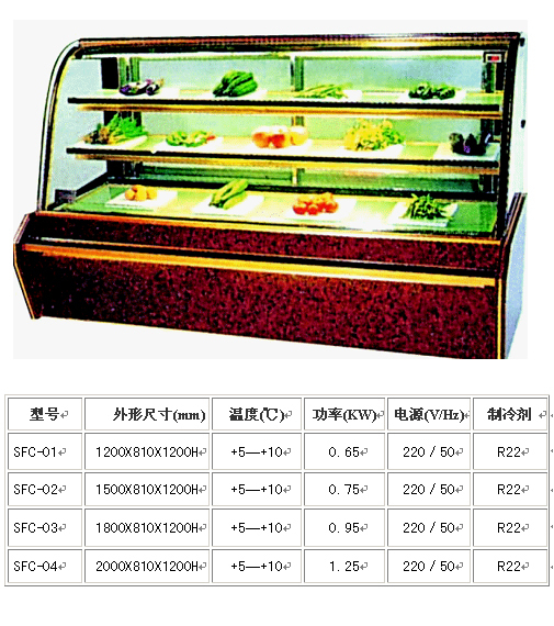 china single temperature refrigerated cake showcase supplier