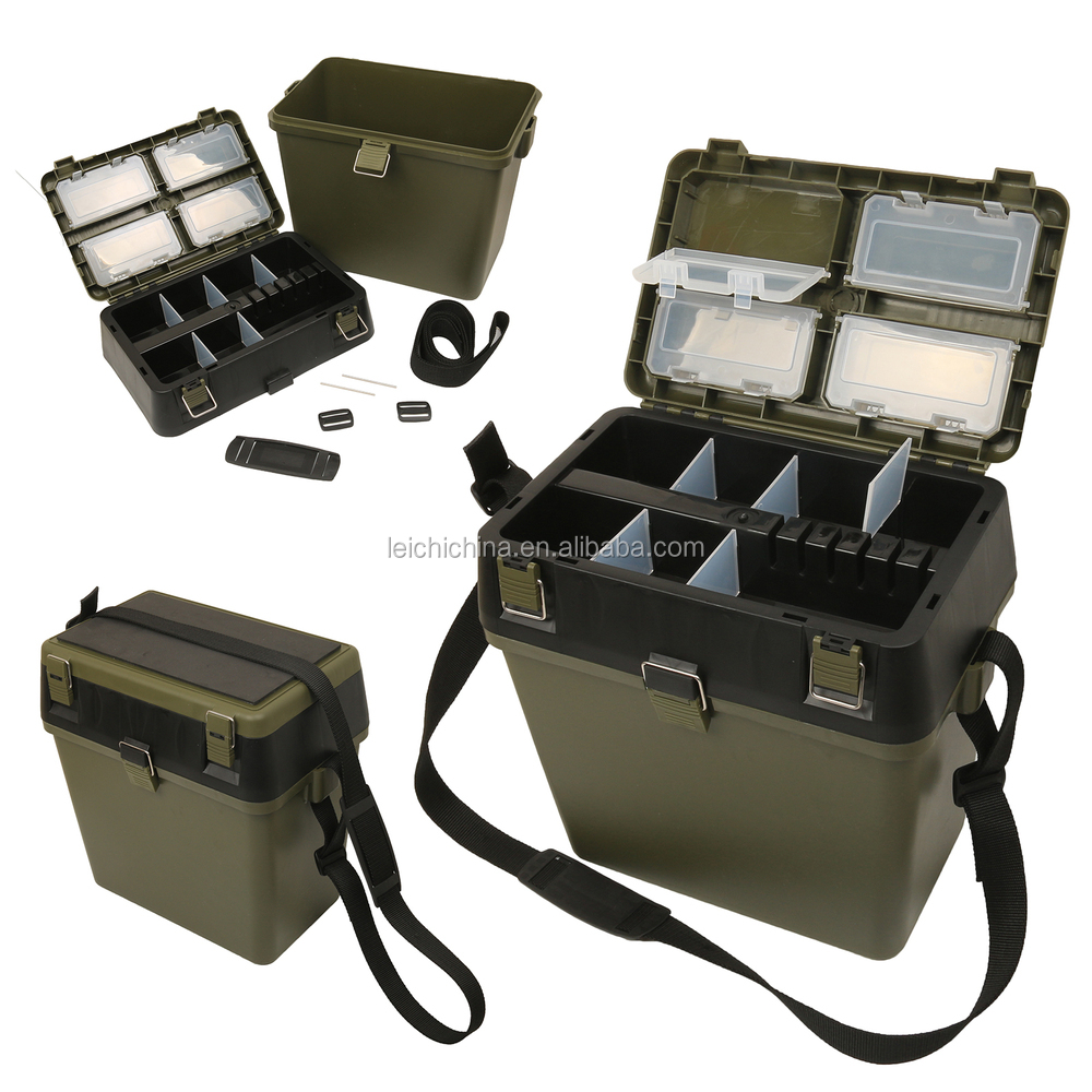 Top quality plastic fishing tackle box fishing seat box for Best fishing tackle box