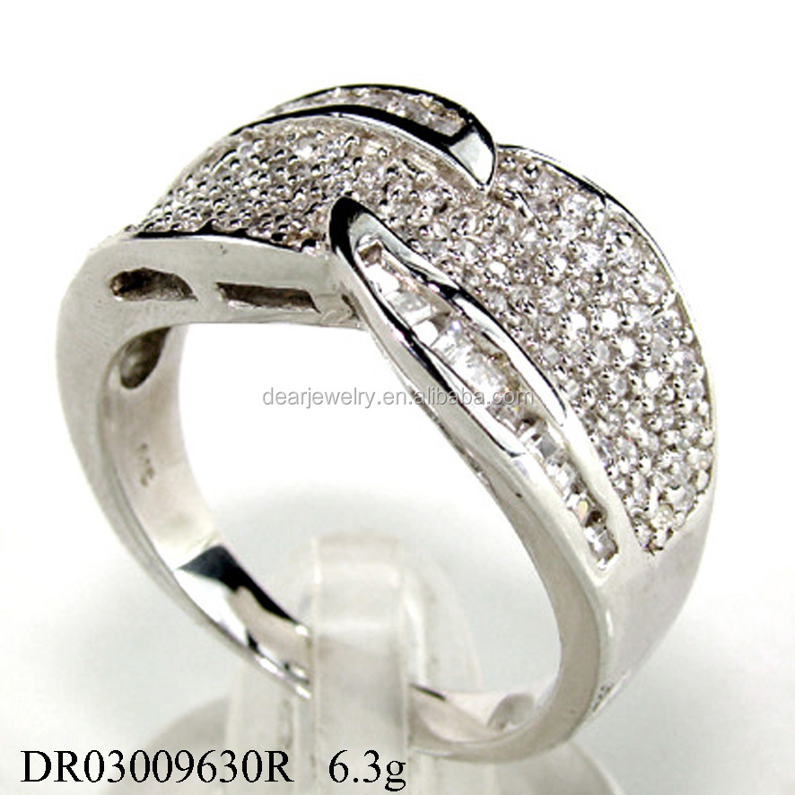 ordering popular ring zircon silver jewelry custom